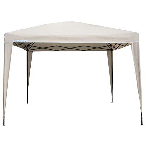 Slimbridge 3 x 3 meter volledig waterdicht Gazebo tent partytent luifel met en zonder Zip Up zijpanelen en poedercoating stalen frame voor outdoor bruiloft Garden Party 3 x 3 m Ivory (pop-up)