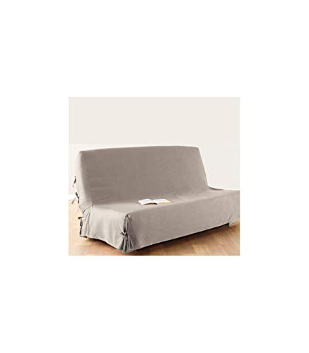 Klappsofa-Überzug - 100% Baumwolle - Farbe: Leinen