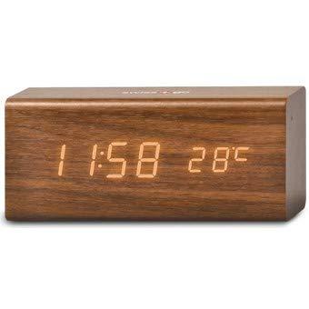 SWISS GO Wecker RD-SG-718 Uhrzeit/Kalender/Thermometer/USB