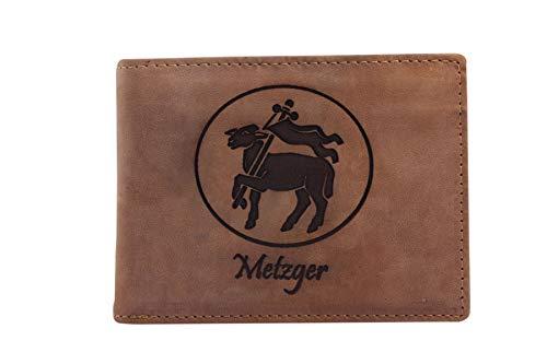 FFelsenfest Geldbörse mit Metzger-Fleischer Zunft-Wappen