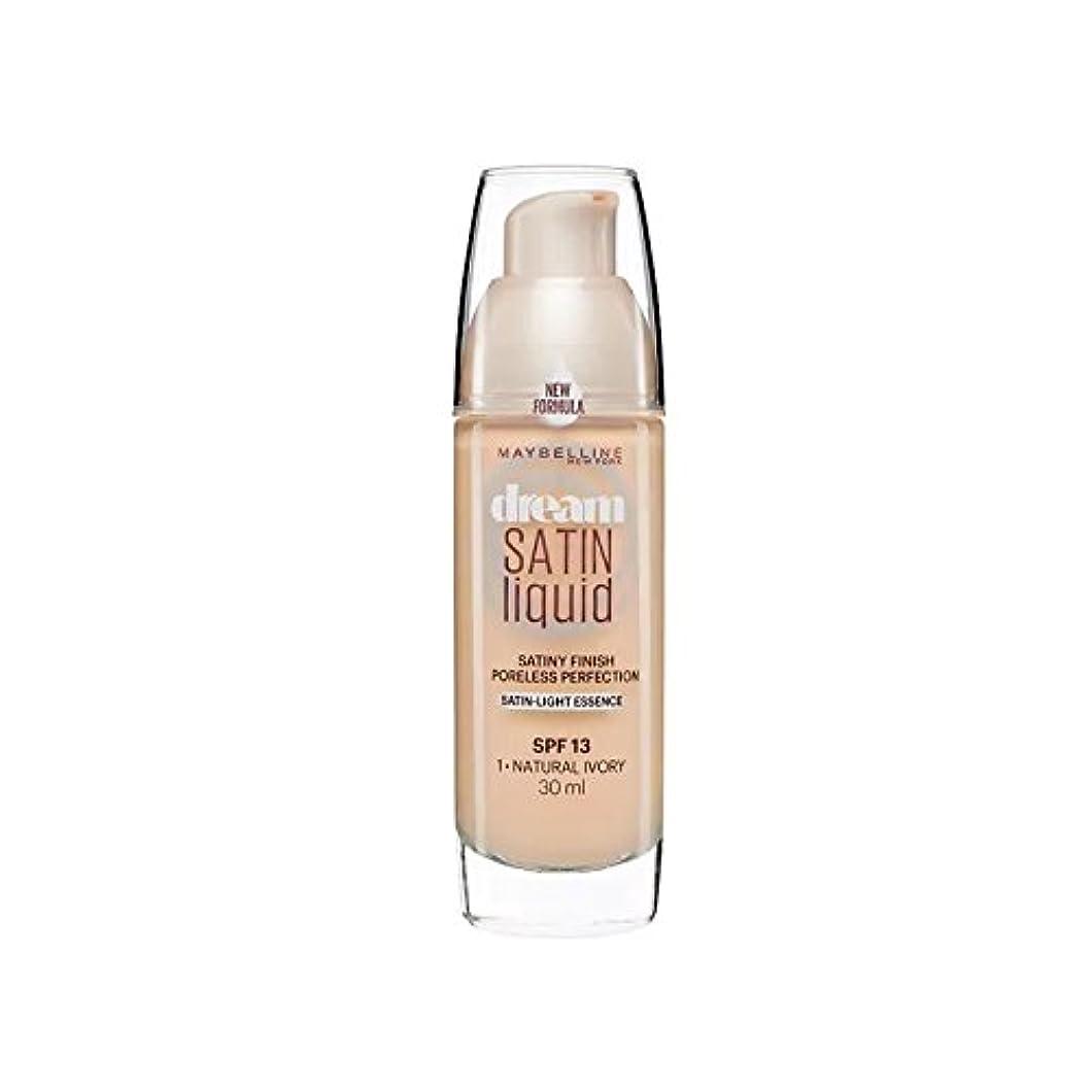 提案一過性等しいMaybelline Dream Satin Liquid Foundation Natural Ivory 30ml - メイベリンの夢のサテンリキッドファンデーションナチュラルアイボリー30ミリリットル [並行輸入品]