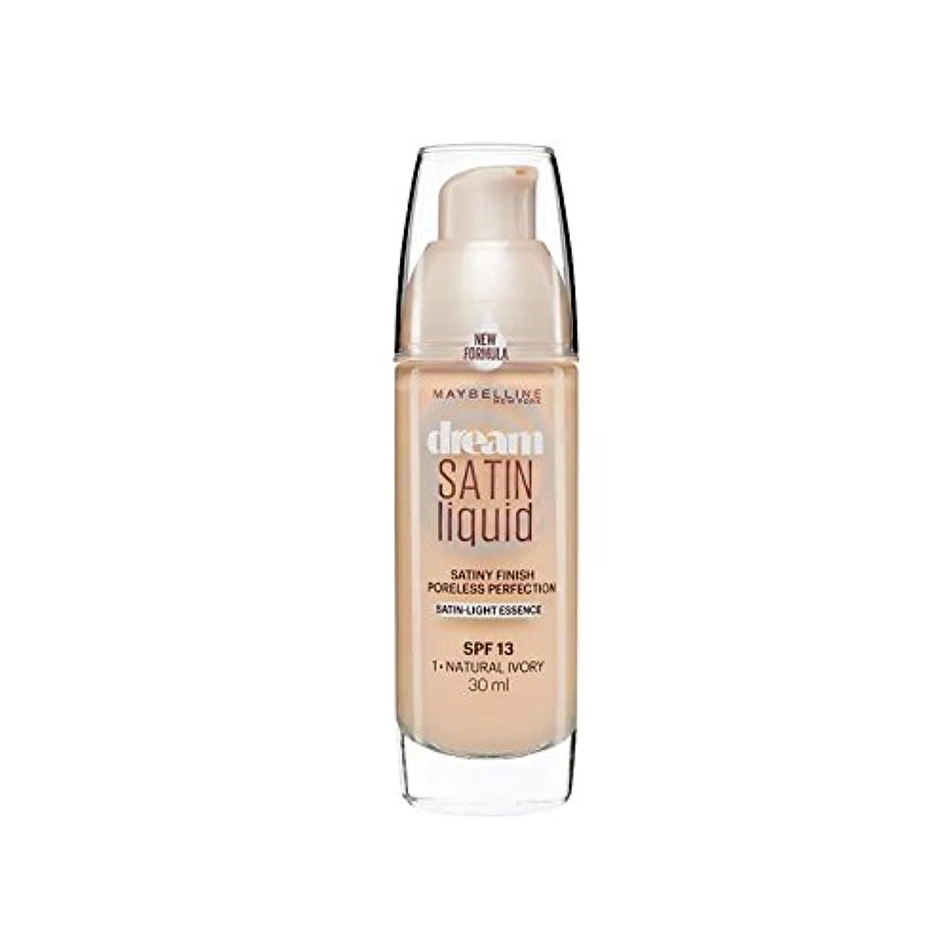 瀬戸際スイス人リクルートMaybelline Dream Satin Liquid Foundation Natural Ivory 30ml (Pack of 6) - メイベリンの夢のサテンリキッドファンデーションナチュラルアイボリー30ミリリットル x6 [並行輸入品]