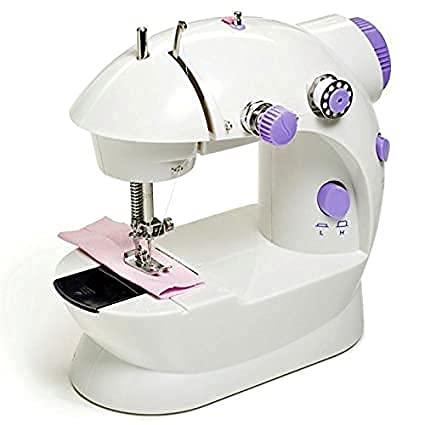 RD STAR Multi Electric Mini 4 in 1 Desktop Functional Household Sewing Machine, Mini Sewing Machine, Sewing Machine for Home Tailoring, Mini Sewing Machine for Home (Sewing Machine with Stand)1