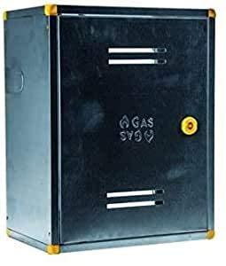Cassetta per Contatore Gas in Acciaio Zincato Completo di Staffette Serratura e Chiave (60x40 Cm)