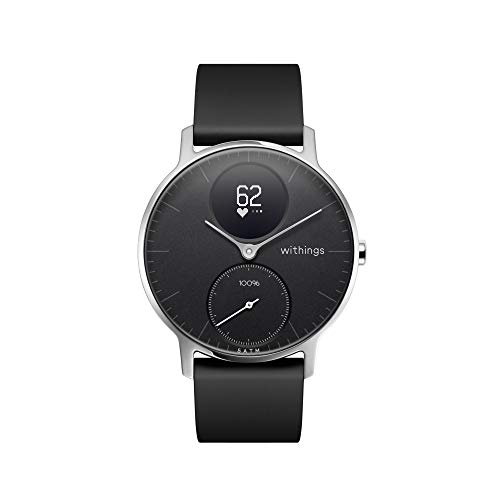 Withings Steel HR - Hybrid Smartwatch - Activity Tracker with Connected GPS, Heart Rate Monitor, Sleep Monitor, Smart Notifications, Water Resistant with 25-Day Battery Life
