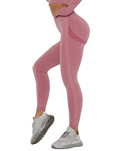 SHAPERIN Damen PO Push up Leggings Butt Lifter Cellulite Hose Anti-cellulitte Kompressionshose Gym Leggings Blickdicht Jogginghose Sport Tights Gegen Cellulite für Fitness(#2 Weinrot,S)