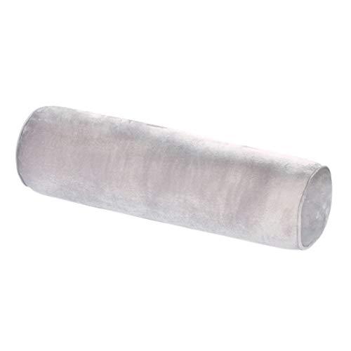 Bverionant Almohada Cilíndrica Suave Cojín Cilíndrico para Cama Sofá Dormir Yoga Rollo Almohada Gris 80 * 20cm
