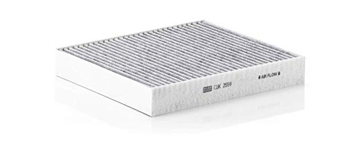 Original MANN-FILTER Filtro de habitáculo CUK 2559 – Filtro de habitáculo con carbón activo – para automóviles