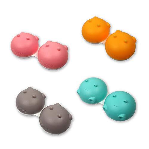 Sports Vision's Neu 3 Stück Hippo Tier Blau Kontaktlinsenbehälter/ Behälter für Einweichen CE-gekennzeichnet und FDA-zugelassen