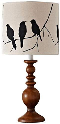 JUNYYANG Estudio lámparas de Mesa Lámpara de Escritorio Ligera Cortina de lámpara de Lectura lámpara de Mesa Tradicionales lámparas Juego de Ropa de Tambor for Sala de Estar Familiar Dormitorio Cama