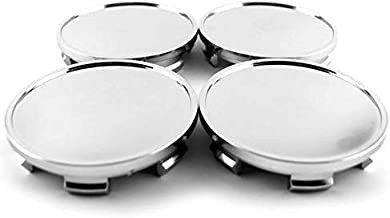 65mm Silver ABS Car Wheel Center Hub Caps Set of 4