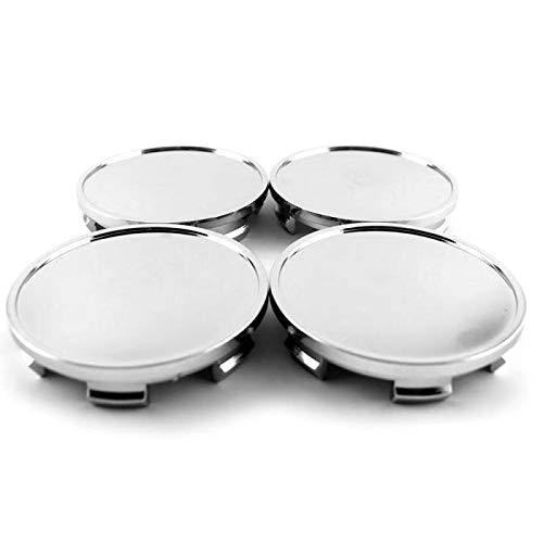 65mm(2.56in)/59mm(2.32in) Wheel Hub Center Caps Silver Base Set of 4 for Blazer 1998 Avus 2003 Wheel Rims Base Replacement