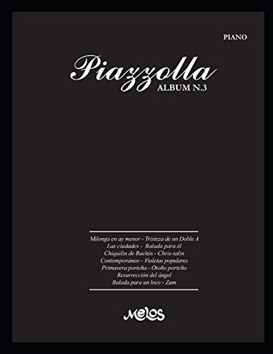 PIAZZOLLA ALBUM N.3: partituras para piano