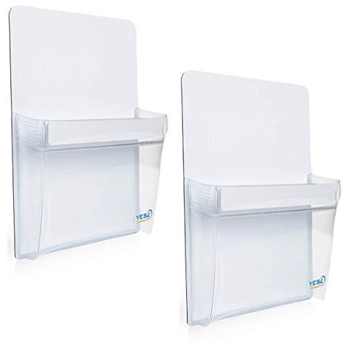 Magnetic Pen Holder for Refrigerator with Strong Magnetic Back (2 Pack) - Dry Erase Marker Holder Ideal for Whiteboard, Fridge - Pencil Cup (2 Pack)