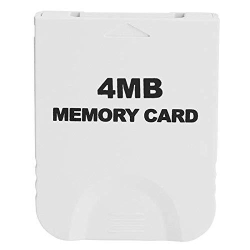 REFURBISHHOUSECarte À Mémoire Blanche Compatible 4Mb Pour Wii Et Gamecube Console