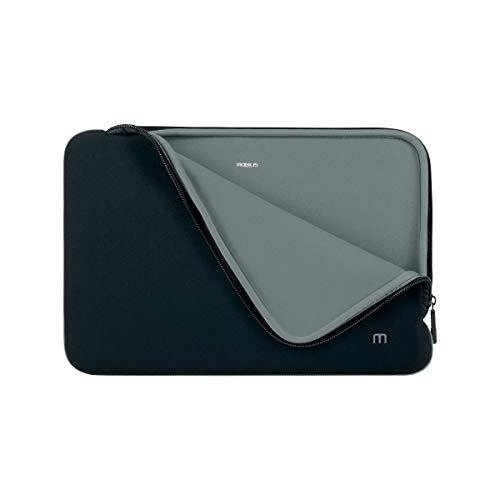 """Mobilis Housse en néoprène pour Ordinateur Portable 14-16"""", Pochette Protection PC/Notebook/Ultrabook jusqu'à 16 Pouces, Noir/Gris"""