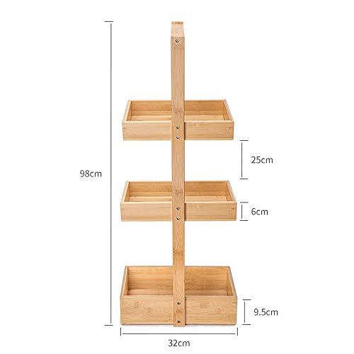 Planken MEIDUO Bamboe Gratis Staande Badkamer Opslag Decoratieve Woonkamer Houder Keuken Accessoire Opslag Rack zeer duurzaam
