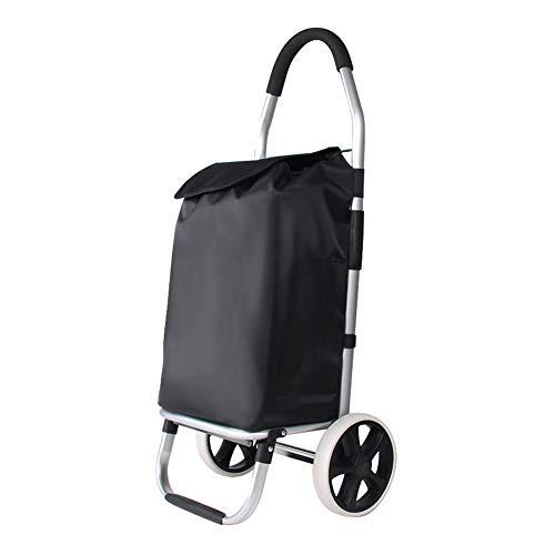 SNUA Carrito de la compra plegable, resistente al agua, escalera de 6 ruedas, carrito de la compra portátil, carrito de la compra, carrito de equipaje, carrito de la compra