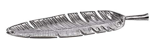 AD TREND-STAR Foglia Vassoio svuotatasche centrotavola Decorazione in Metallo 41 x 12 cm