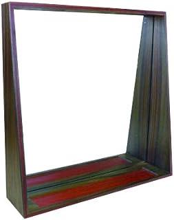 【木kara】 唐木 壁掛けミラー 高級 鏡