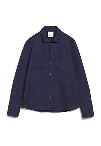 ARMEDANGELS NOAAH - Herren Sweatjacke aus Bio-Baumwolle L Navy Sweat Jacke, Sweatjacket Solid Regular fit