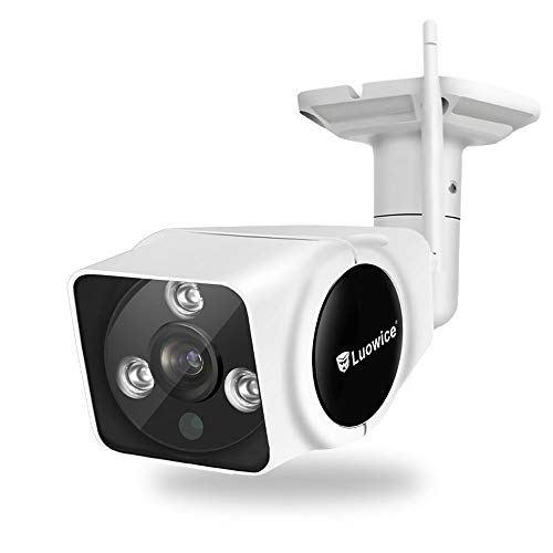 Luowice WiFi IP Camera Outdoor 1080P Wireless Security Camera with Intercom Function HD Surveillance Camera 100ft Night Vision and Built-in 32G Micro SD Card IP66 Waterproof 1080P budget
