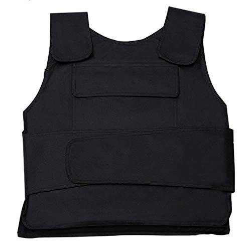 BININBOX Stichschutzweste Unterziehweste schützt Brust und Rücken Schutz Taktische Weste Militärausbildung Gilet Ausrüstung für die Sicherheit (Vordertaschenstil)