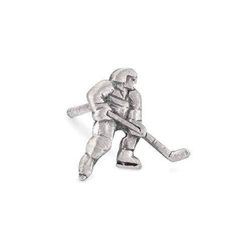 Ohrstecker 1 Stk Silber patiniert Eishockey