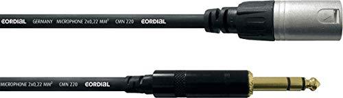 Cordial CFM 3 MV cable de audio 3 m XLR (3-pin) 6.35mm Black,Silver - Cables de audio (XLR (3-pin), Male, 6.35mm, Male, 3 m, Black,Silver)