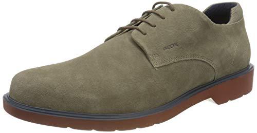 Geox U RAFFAELE B, Zapatos de Cordones Derby Hombre, Gris (Taupe C6029), 46 EU