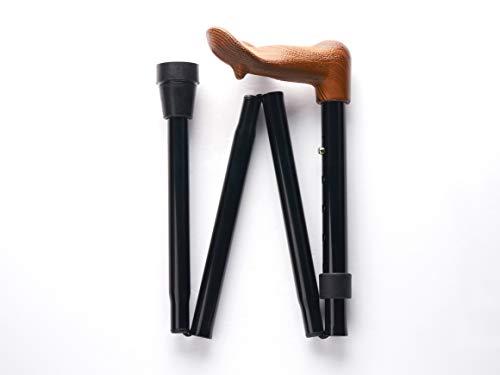 Merry Sticks Ergonomic Folding Cane, Right Handle, Black