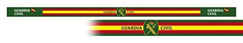 Pulsera GUARDIA CIVIL 6 unidades tamaño 33 x 1,4 cm de hilo tricotado Caza, Pesca, Camping, Outdoor, Supervivencia y Bushcraft + portabotellas de regalo