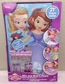 Disney Sofia the First Amber Mix and Match 21 Foam Dolls Dress up Activity Kit by Disney
