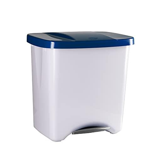 Denox DEN110 Pedalbin Ecológico 50 litros, Azul, 475x360x480 mm, 50