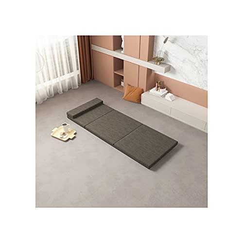 3 colchones plegables de espuma viscoelástica, sofá cama, sofá cama japonés, colchón de piso para apartamentos pequeños, oficina, camping, marrón, 120 x 200 cm