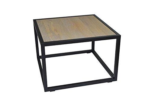 Spinder Design Diva Table Basse en chêne Noir 60 x 60 x 40 cm