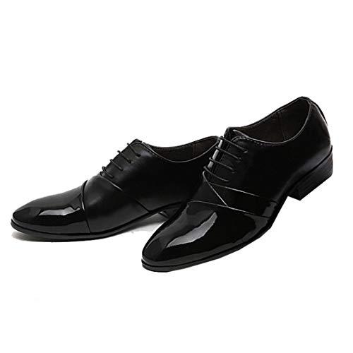 Zapatos de Vestir de Negocios para Hombres Pisos con Cordones de Cuero...