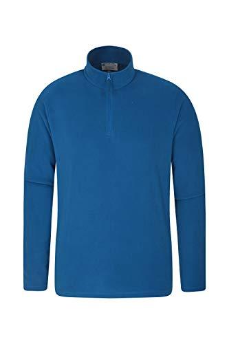 Mountain Warehouse Polaire Hommes Camber - Légère, Veste Respirante, séchage Rapide, Anti-Boulochage, Ventilation supplémentaire - Parfaite pour Marcher Bleu Cobalt S