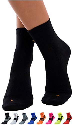 ZaTech Plantar Fasciitis Sock, Compression Socks (Black, Small)