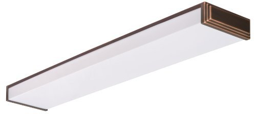 Lithonia Lighting 10648RE BZ Fluorescent Linear Decorative Wraparound Light for Kitchen | Attic | Basement | Home, Bronze