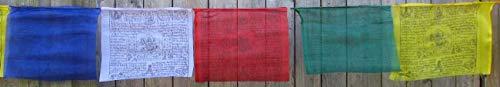BUDDHAFIGUREN/Billy Held Banderas de oración Budista, 8.50 m