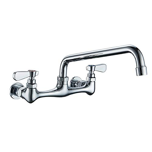 Kitchen Faucet Wall Mount with 8 Inch Swivel Spout 8' Center...