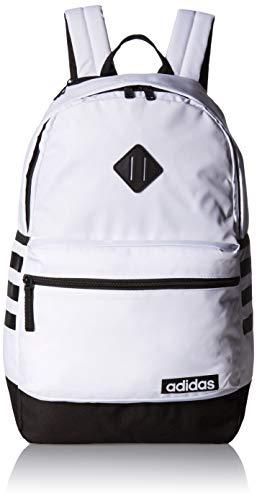 adidas Unisex Classic 3S Backpack, White/Black, ONE SIZE