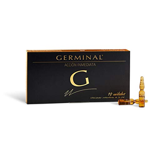 Germinal Acción Inmediata - Serum Facial Efecto Flash, Efecto Lifting Inmediato, con Proteinas de Maíz y Extractos de Gingseng- 10 Ampollas x 1,5ml