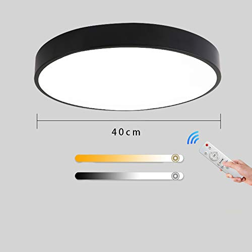 Led ceiling lamp ultra-thin living room master bedroom lamp color round lamp 40CM-27W white light no aurora - with remote control
