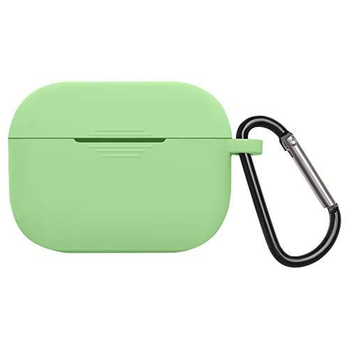 Bluetooth Earphone Ultradünne Schutzhülle, Staubfest Zubehör, Anti Lost Box Laden Soft Silicon Cover Vollständige Abdeckung(Light Green)