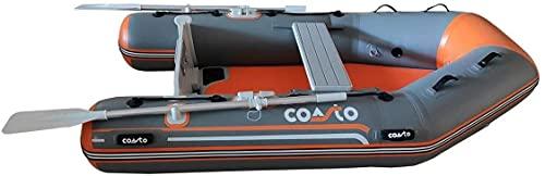 COASTO Schlauchboot mit Dropstitch Boden, Dingi, Beiboot, Motorboot, Ruderboot, 230cm
