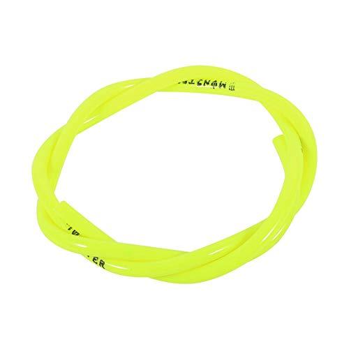 ホース 耐油 耐油プレッシャーホース 車用 オートバイ用 耐油管 穴直径4.5mm 耐候性耐高温 耐摩耗 耐腐食 オンダ スズキ ヤマハなど 適用(Yellow)(Yellow)