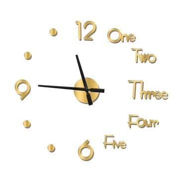Reloj de Pared Nuevo Metal 3D DIY Espejo Reloj de Pared Reloj Reloj Decoración del hogar Aguja Moderna Etiqueta de Cuarzo 37 Pulgadas 3