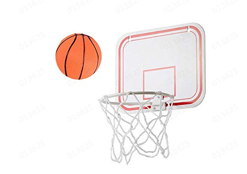 uwovp-e Plastic Basketball Hoop Game for Kids and Adults Includes 1 Mini Ball 1 Back Board Net Hanging Stickers Indoor Basketball Set for Home Office Bedroom Best Gift for Boys and Girls